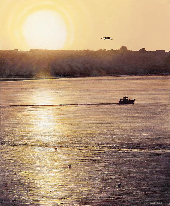 Print Summer Sunset, Polzeath