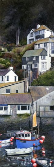 Print of Polperro in Cornwall