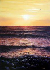 Print Golden Sunset at Cot