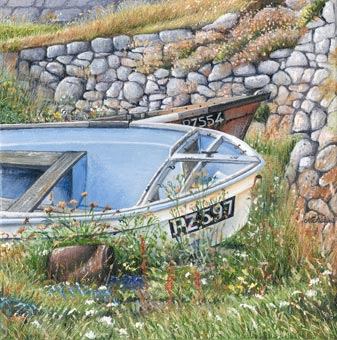 Print Hauled Up at Priest's Cove