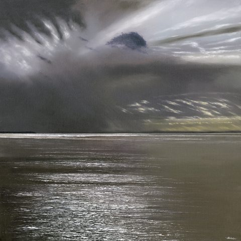 Calm Before the Storm - a detailed sea and skyscape limited editon print by artist Nicholas Smith