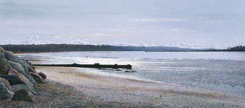 Print Winter Light in the Bay