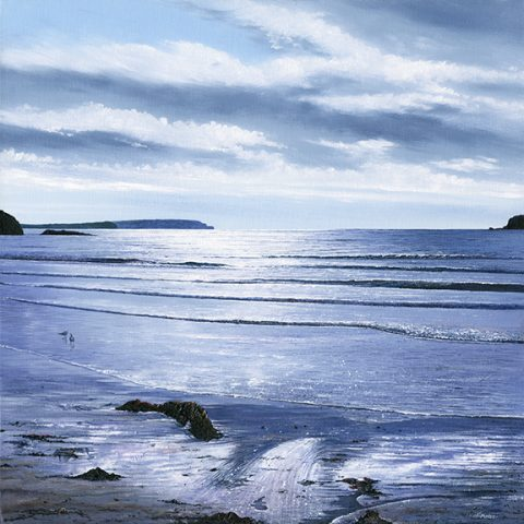 Late Afternoon, Trevone Bay limited edition print by Nicholas Smith