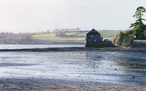 Print of the painting First Light, Porthilly Beach by Nicholas Smith
