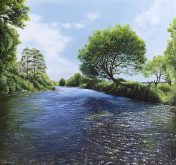 High Summer on the River Otter - a limited edtion print by Nicholas Smith