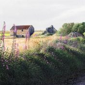 Derelict Barn - a detailed print by artist Nicholas Smith