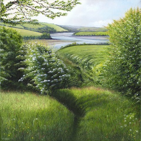 LE803 Path to the Creek - a detailed landscape print by artist Nicholas Smith