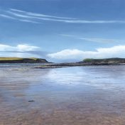 LE812 Daymer Bay to Stepper Point - a detailed print of a Cornish seascape by artist Nicholas Smith