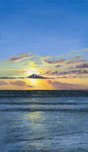 LE611 Golden Blue - a detailed print of a sunset by artist Nicholas Smith