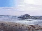 LE819 Dawn After the Storm - a detailed print of Mounts Bay, Cornwall by artist Nicholas Smith