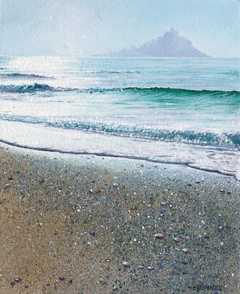 OE5 Mounts Bay - Misty - a detailed print by artist Nicholas Smith
