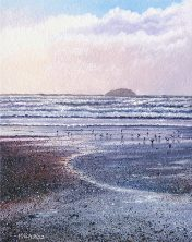 OE10 Polzeath - a detailed print by artist Nicholas Smith