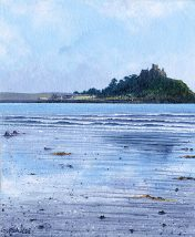 OE6 Mounts Bay - Clear - a detailed print by artist Nicholas Smith