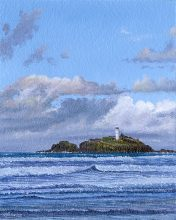 OE7 Godrevy Lighthouse - a detailed print by artist Nicholas Smith