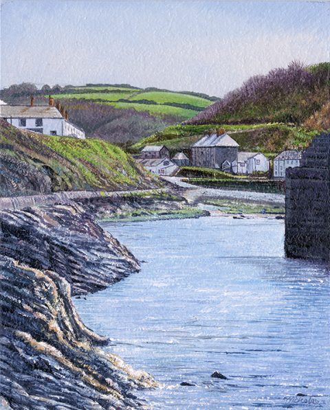 OE8 Boscastle - a detailed print by artist Nicholas Smith
