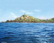 OE14 Cape Cornwall - a detailed print by artist Nicholas Smith