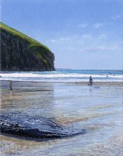 OE17 Trebarwith Strand - a detailed print by artist Nicholas Smith
