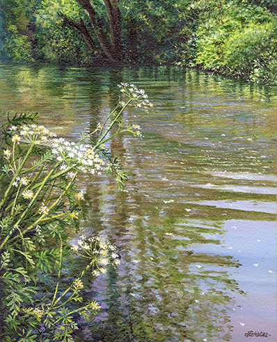 OE20 Tranquil Waters - a detailed print by artist Nicholas Smith