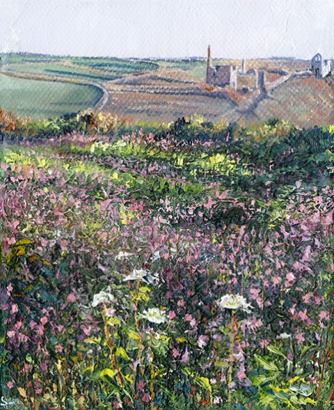 OE29 A Cornish View - a detailed print by artist Nicholas Smith
