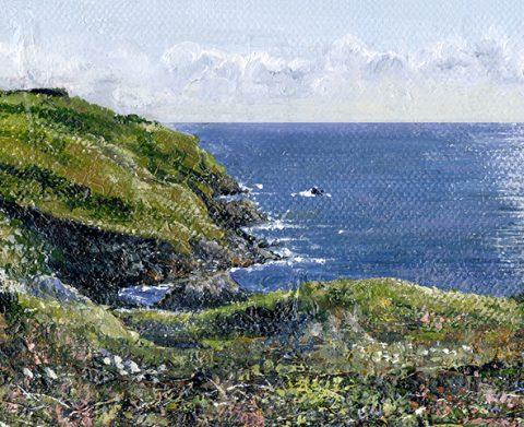 OE31 Our Cornish Coast - a detailed print by artist Nicholas Smith