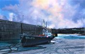 LE856 Gathering Clouds, St Ives - a detailed print by artist Nicholas Smith
