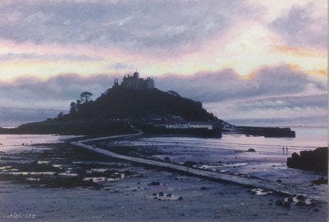 OE44 Evening Glow - a detailed print by artist Nicholas Smith